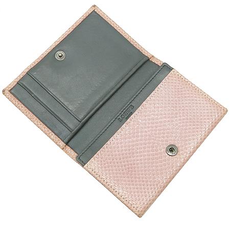 Loewe(로에베) 은장로고 뱀피 패턴 래더 카드지갑