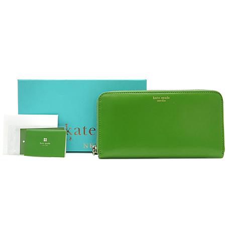 KATESPADE(케이트스페이드) KKCFFLV01FJ3 017 라이트그린래더 로고 프린팅 지피월릿 장지갑 [강남본점] 이미지2 - 고이비토 중고명품