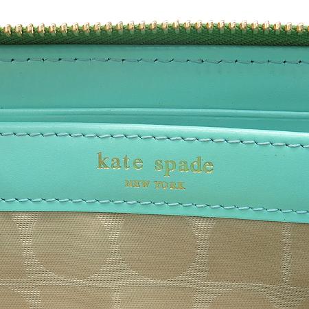 KATESPADE(케이트스페이드) KKCFFLV01FJ3 017 라이트그린래더 로고 프린팅 지피월릿 장지갑 [강남본점] 이미지5 - 고이비토 중고명품