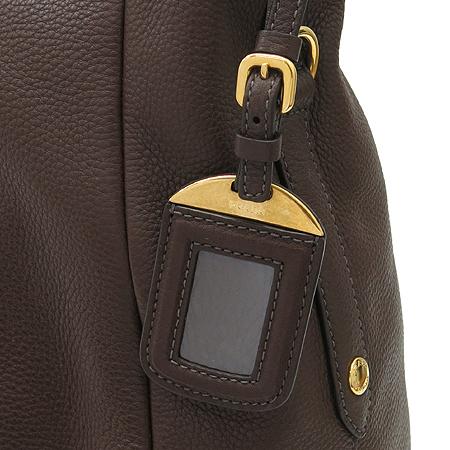 Prada(프라다) BR4891 금장 로고 장식 브라운 레더 숄더백 [명동매장]