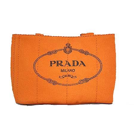 Prada(프라다) BN2439 CANAPA PAPAYA 오렌지 패브릭 로고프린팅 토트백 [명동매장]