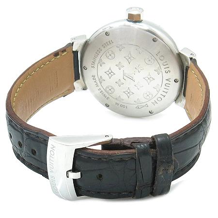 Louis Vuitton(루이비통) Q11115 땅부르 에센셜 라지 쿼츠 남성용 가죽밴드 시계