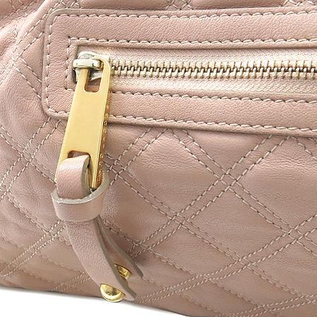 Marc_Jacobs(마크제이콥스) 금장 체인 장식 피치 핑크 래더 퀼팅 스탐백 2WAY [대구반월당본점] 이미지4 - 고이비토 중고명품