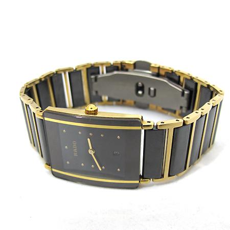 RADO(라도) R20282162 금장 블랙 세라믹 인테그랄 쿼츠 남여공용시계