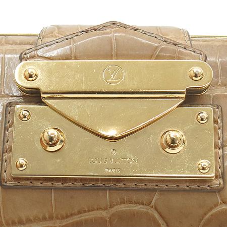 Louis Vuitton(루이비통) 크로커다일 금장 장식 클러치 겸 금장 체인 숄더백
