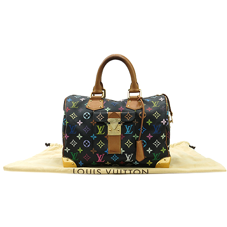 Louis Vuitton(루이비통) M92642 모노그램 멀티컬러 블랙 멀티스피디 30 토트백 이미지2 - 고이비토 중고명품