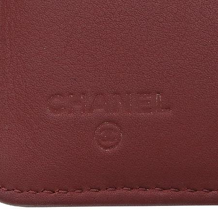 Chanel(샤넬) COCO 로고 퀼팅 송아지가죽 지피 중지갑