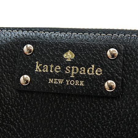 KATESPADE(케이트 스페이드) 블랙 레더 짚업 장지갑
