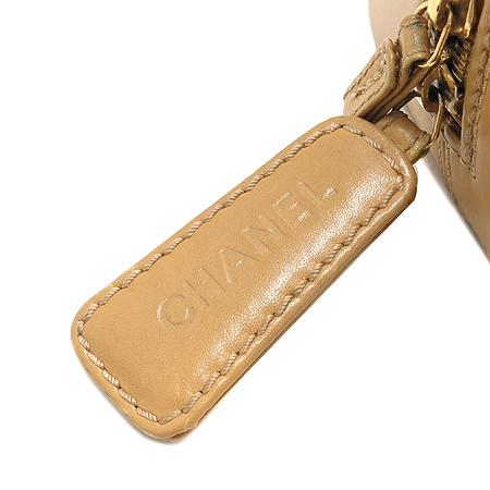 Chanel(샤넬) 금장 COCO로고 베이지 레더 퀼팅 스티치 스퀘어 토트백
