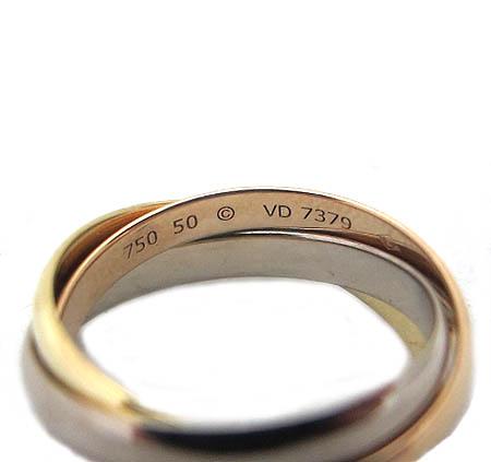 Cartier(까르띠에) B4086100 18K 골드 삼색 트리니티 반지-10호