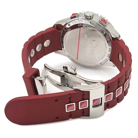 Dior(크리스챤디올) CD11431BR001 CHRISTAL 38MM 베젤 다이아 크리스탈 장식 러버 밴드 남녀공용 시계 [강남본점] 이미지3 - 고이비토 중고명품