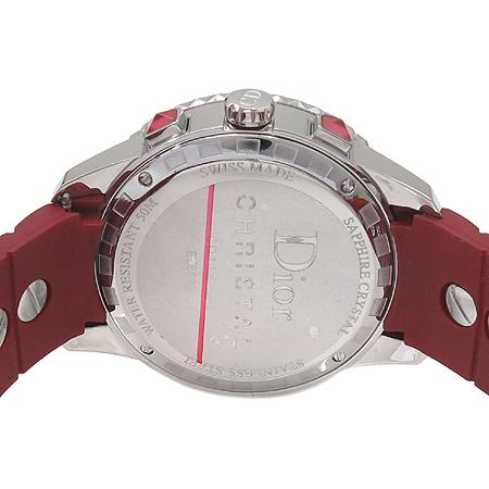 Dior(크리스챤디올) CD11431BR001 CHRISTAL 38MM 베젤 다이아 크리스탈 장식 러버 밴드 남녀공용 시계 [강남본점] 이미지4 - 고이비토 중고명품