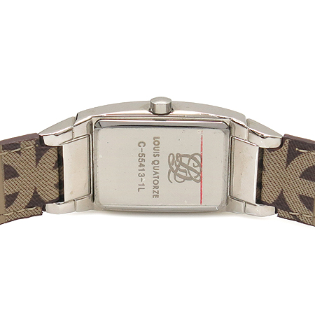Louis_Quatorze(루이까또즈) C-55413 은장 베젤 장식 로고 밴드 남성용 시계