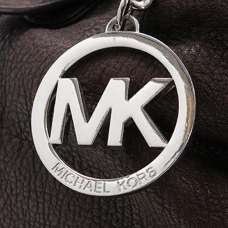 MICHAELKORS(마이클 코어스) 은장 로고 장식 퍼플 레더 은장 체인 2WAY 숄더백