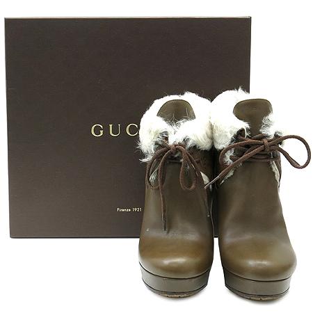 Gucci(구찌) 269700 퍼 장식 여성용 앵글 부츠