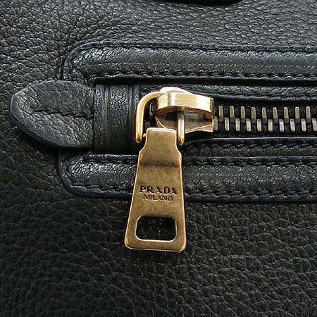 Prada(프라다) BR4735 금장 로고 장식 블랙 레더 토트백 [명동매장]