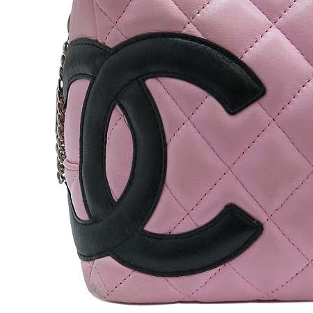 Chanel(샤넬) A50492 핑크 깜봉 COCO로고 스티치 볼링 숄더백 [부산본점]