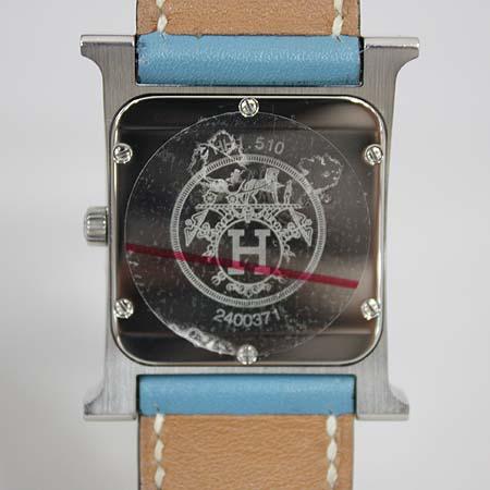 Hermes(에르메스) HH1.510 H-OUR H아워 쿼츠 은장 펜던트 가죽 밴드 남성용 시계 [명동매장]