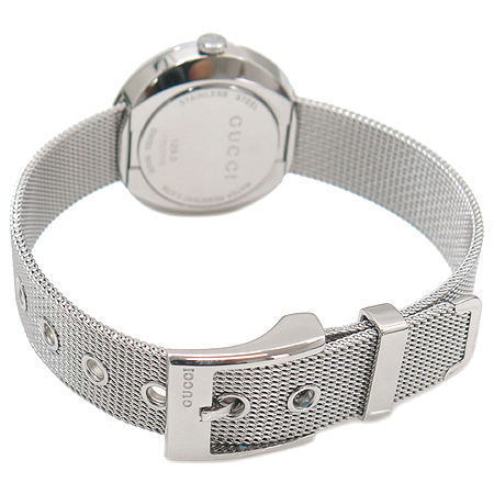 Gucci(구찌) 129.5 자개판 3포인트 다이아 스틸 쿼츠 여성용 시계 이미지4 - 고이비토 중고명품