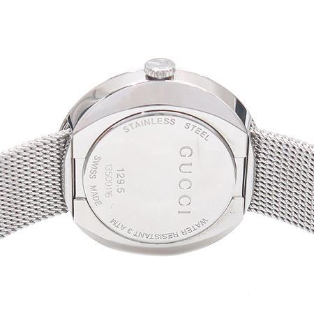 Gucci(구찌) 129.5 자개판 3포인트 다이아 스틸 쿼츠 여성용 시계 이미지5 - 고이비토 중고명품