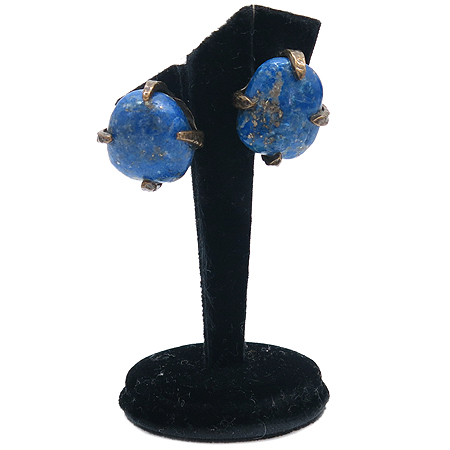 Chanel(샤넬) 스톤 장식 메탈 귀걸이