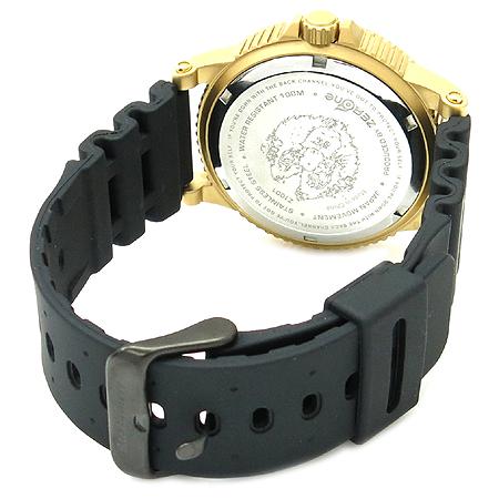 Back channel(백채널) Z1001 금장 라운드 러버 밴드 시계