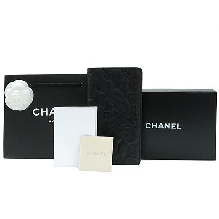 Chanel(샤넬) 블랙 로고 장식 아이콘 장지갑