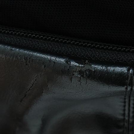 Adidas(아디다스) 블랙 패브릭 래더 백팩