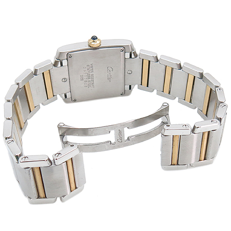 Cartier(까르띠에) W51012Q4 18K 콤비 탱크 프랑세즈 M사이즈 남녀공용 시계