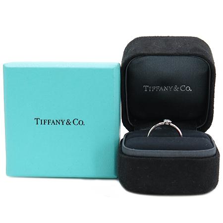 Tiffany(티파니) PT950 (플레티늄) 베젯 라운드 1포인트 다이아 반지