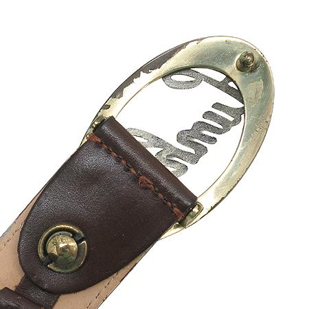 Dunhill(던힐) 브라운 래더 금장 로고 버클 남성용 벨트 이미지3 - 고이비토 중고명품