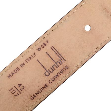 Dunhill(던힐) 브라운 래더 금장 로고 버클 남성용 벨트 이미지5 - 고이비토 중고명품