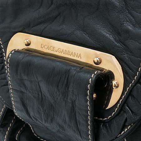D&G(돌체&가바나) 블랙 래더 금장 장식 숄더백 [부산센텀본점] 이미지4 - 고이비토 중고명품