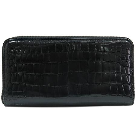 KWANPEN(콴펜) 블랙 크로커다일 짚업 장지갑 [명동매장]