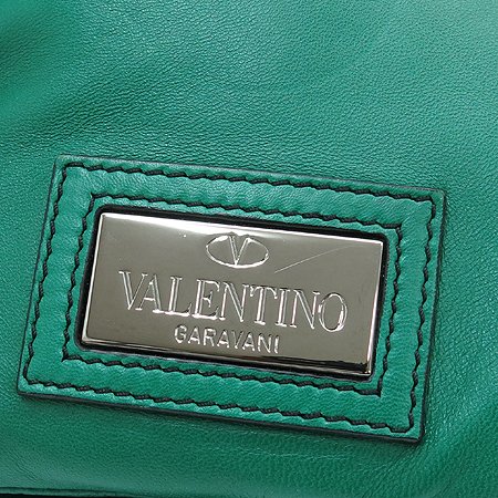 VALENTINO(발렌티노) 그린레더 리본장식 숄더백