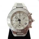 Cartier(까르띠에) W10184U2 MUST 21 크로노스캐프 L사이즈 러버밴드 쿼츠 남여공용 시계 [강남본점]