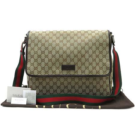 Gucci(구찌) 233052 GG 로고 자가드 삼색 스티치 크로스백 이미지2 - 고이비토 중고명품
