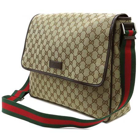 Gucci(구찌) 233052 GG 로고 자가드 삼색 스티치 크로스백