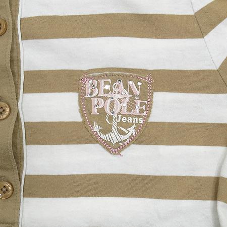 Bean Pole(빈폴) 스트라이프 카라 반팔 티