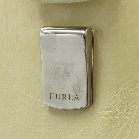 FURLA(훌라) 은장 버클 베이지 레더 스퀘어 숄더백