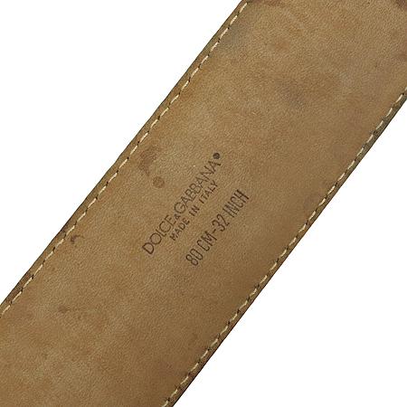 D&G(돌체&가바나) 로고 콤비 장식 여성용 벨트