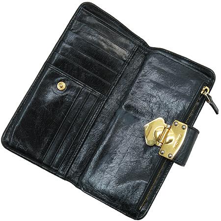 MiuMiu(미우미우) 5M1107 MATELASSE LUX(마테라쎄 럭스) 블랙 레더 장지갑 [강남본점] 이미지3 - 고이비토 중고명품
