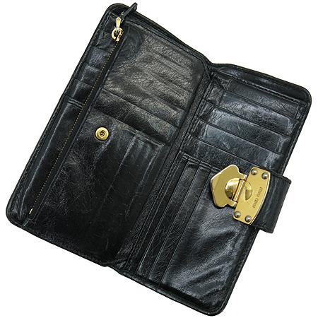 MiuMiu(미우미우) 5M1107 MATELASSE LUX(마테라쎄 럭스) 블랙 레더 장지갑 [강남본점] 이미지4 - 고이비토 중고명품
