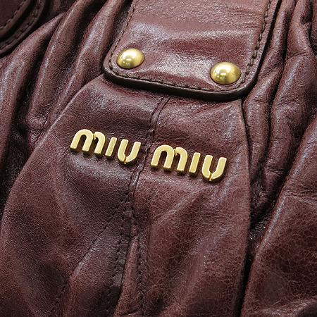MiuMiu(미우미우) METELASSE LUX(마테라쎄 럭스) 송아지 가죽 2WAY