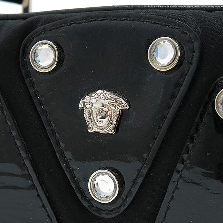 Versace(베르사체) 장식 블랙 패브릭 토트백
