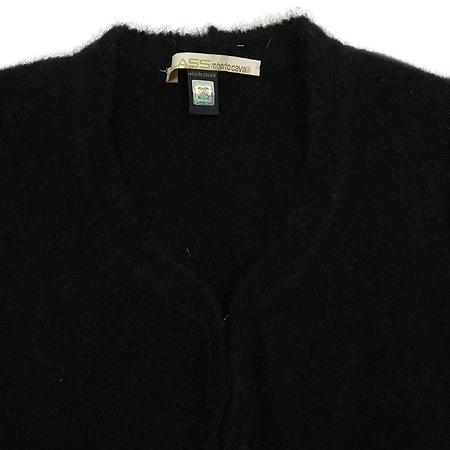 CAVALLI(카발리) 어깨털 소매 시스루 블랙 가디건 [동대문점]