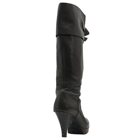 Jill Stuart(질스튜어트) 브라운 레더 리본장식 여성용 부츠