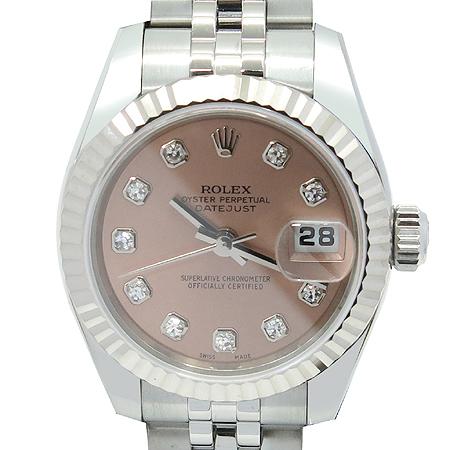 Rolex(로렉스) 179174 10포인트 다이아 핑크판 스틸 DATEJUST(데이저스트) 여성용 시계