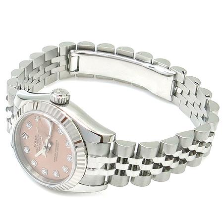 Rolex(로렉스) 179174 10포인트 다이아 핑크판 스틸 DATEJUST(데이저스트) 여성용 시계 이미지4 - 고이비토 중고명품