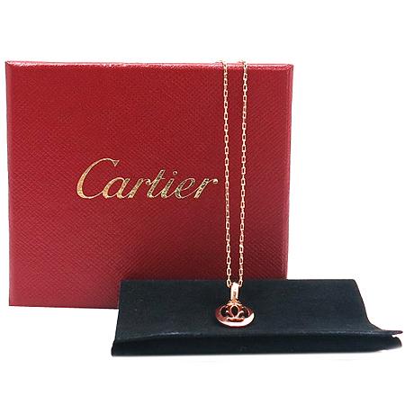 Cartier(까르띠에) B7219300 18k 핑크골드 로고 더블 C 다이아 여성용 목걸이